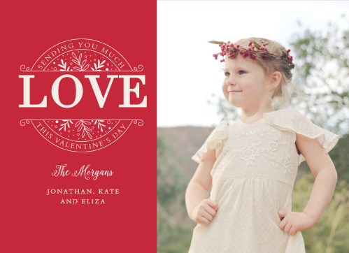 Warm the hearts of everyone you care about with the Classic Love Valentine's Day Cards.