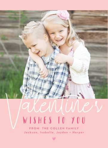 Send your warm wishes this heart-day with the Love Wishes Valentine's Day Cards!