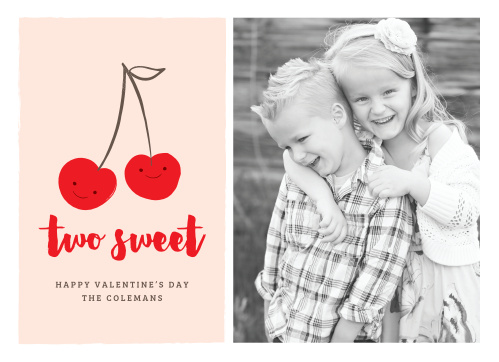 Make someone's day with the cute and cheery Sweet Cherries Valentine's Day Cards!