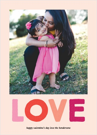 Fill your recipient's heart with love with the Colorful Love Valentine's Day Cards.