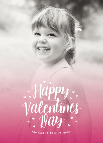 Choose your most heart-warming photo for the Ombre Hearts Valentine's Day Cards.