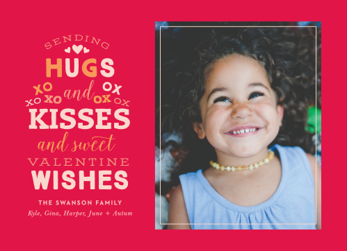 Our eye-catching Sending X's & O's Valentine's Day Cards feature a bright and vibrant red background to match the classic colors of Valentine's Day cheer.