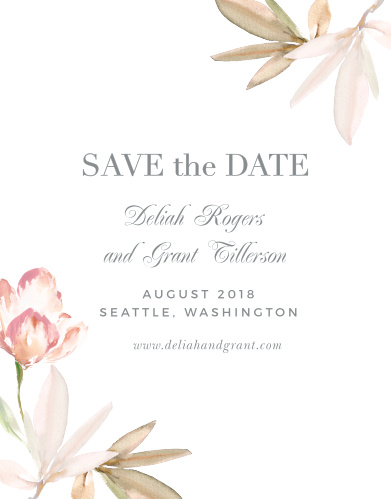 Ensure that your friends and family know when your wedding will be using the Darling Watercolor Save-the-Date Cards.
