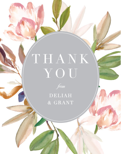 Make sure your guests know how much you appreciate them using the Darling Watercolor Thank You Cards.