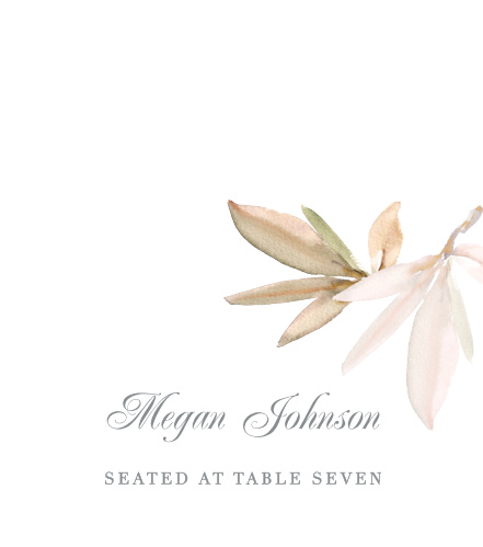Personalize the Darling Watercolor Place Cards colors and fonts to coordinate with your wedding theme.