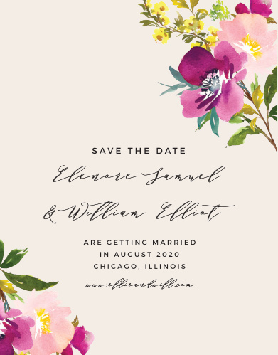 Guarantee that your friends and family mark their calendars well in advance with our Mallow Save-the-Date Cards.