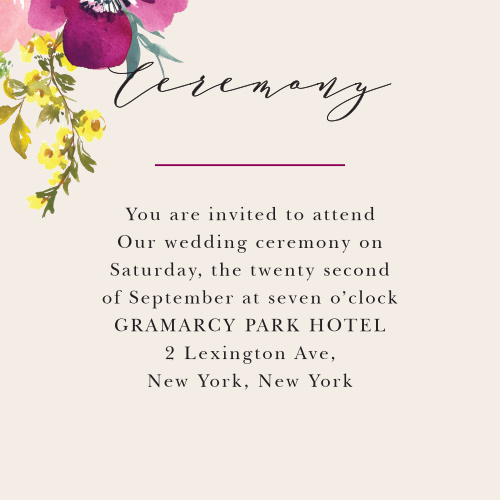 For the small, intimate ceremony you want, choose our Mallow Ceremony Cards.