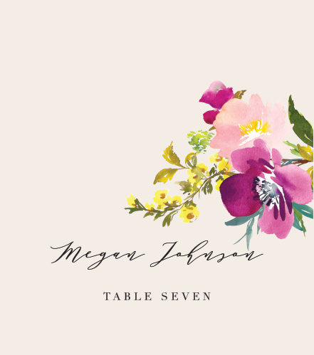 Guide your guests to their respective tables with our Mallow Place Cards.