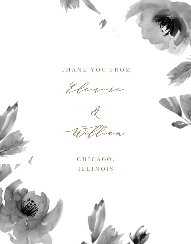 Make sure your guests know how much you appreciate them using the Water Rose Thank You Cards.