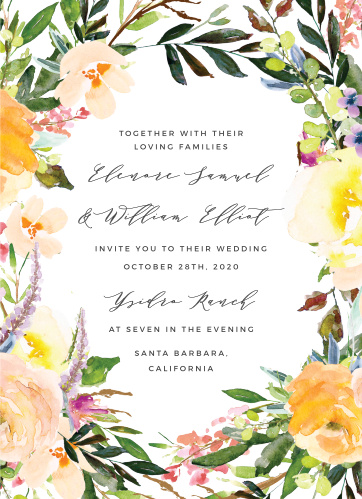 Your guests will adore the Willow Wreath Wedding Invitations once they receive them.