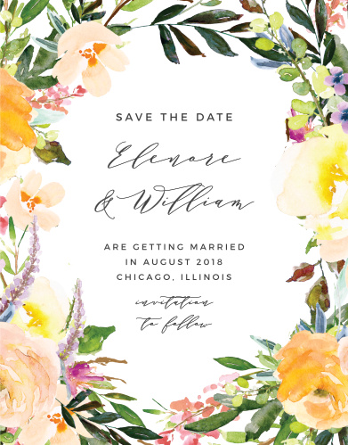 Ensure that your friends and family know when your wedding will be using the Willow Wreath Save-the-Date Cards.