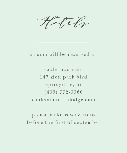 Make sure your guests know the best places to stay when they attend your wedding using the Willow Wreath Accommodation Cards.