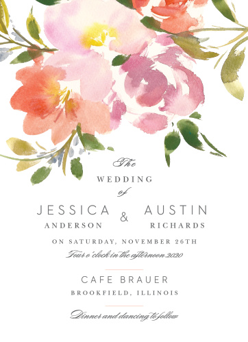 Your guests will adore the Floral Felicity Wedding Invitations once they receive them.