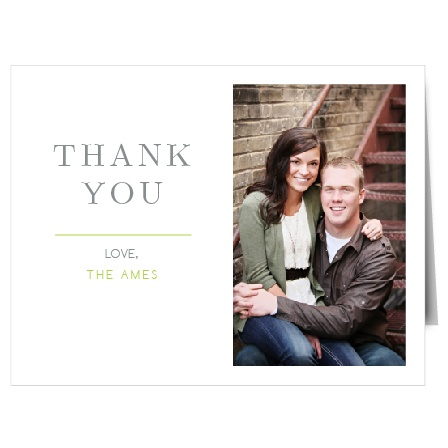 Express your gratitude in the most personal way. This personalized Thank You card says it all.