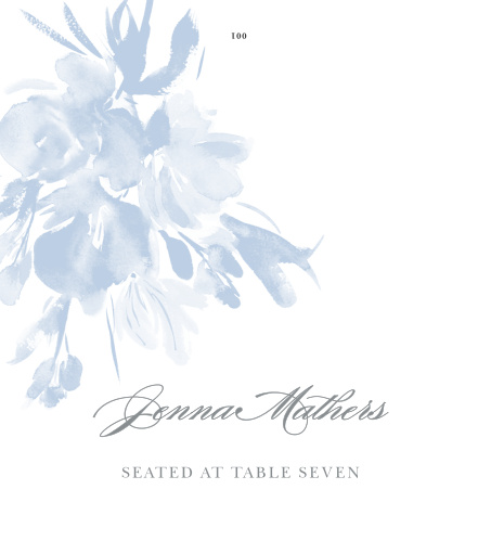 Personalize the Subtle Fleuriste Place Cards colors and fonts to coordinate with your wedding theme.