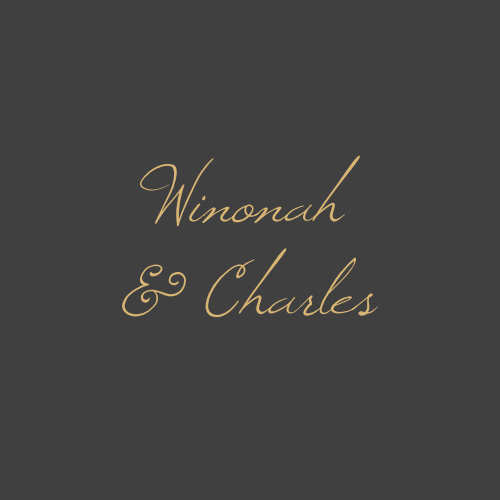 Elegant raised gold foiled calligraphy glides across a stormy grey background for the Opulent Floweret Foil Wedding Stickers.