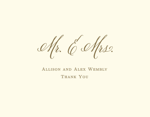 Finish your truly custom wedding stationery with the Romantic Vintage Thank You Cards from the Crafty Pie Collection at Basic Invite.