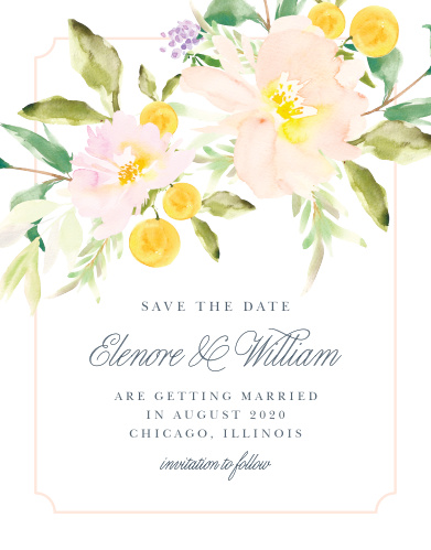 Ensure that your friends and family know when your wedding will be using the Melodious Melanie Save-the-Date Cards.