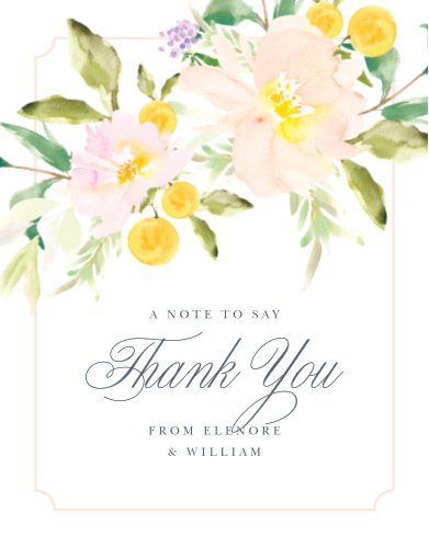 Make sure your guests know how much you appreciate them using the Melodious Melanie Wedding Thank You Cards.