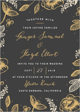 Impress your guests with the classic elegance of our Fleur Foil Wedding Invitations.