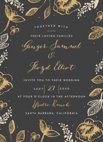 Impress your guests with the classic elegance of our Fleur Magnifique Foil Wedding Invitations.