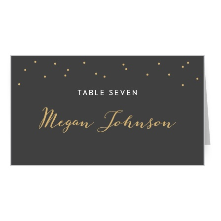 Help your guests find their seats with our Fleur Foil Place Cards.