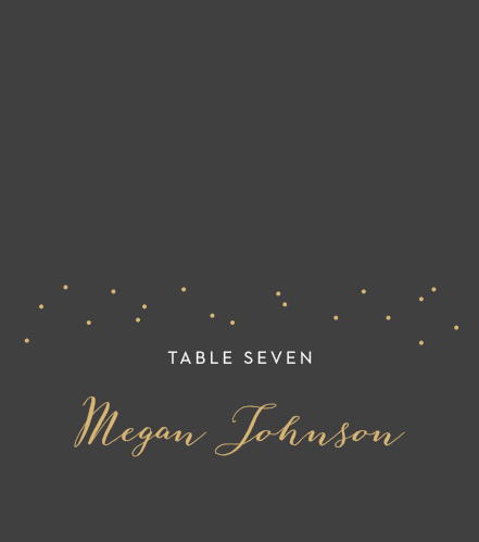 Help your guests find their seats with our Fleur Magnifique Foil Place Cards.