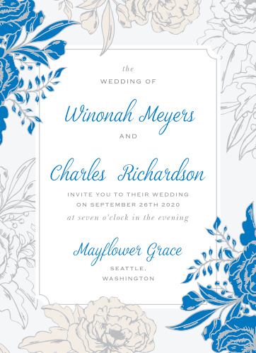 Your guests will adore the Peony Draped Wedding Invitations once they receive them.