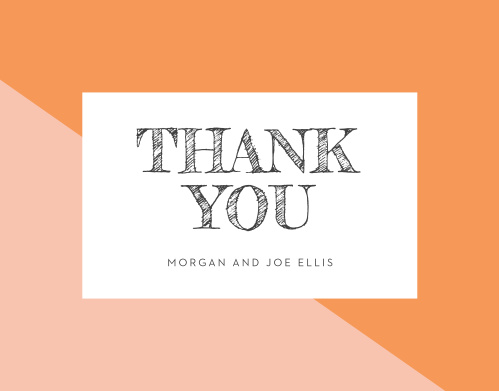 Share your gratitude with your guests using our beautiful Angular Color Wedding Thank You Cards.