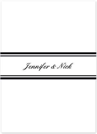 The Formal Ticket Belly Band is the perfect compliment to The Formal Ticket, or any other invitation set.