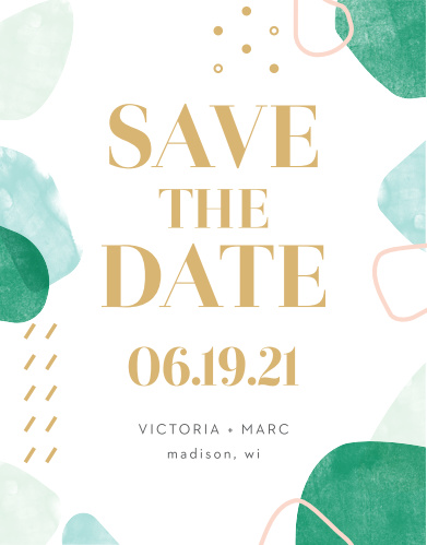 Sea Breeze Collage Save-the-Date Cards guarantee that your guests have all of the details of your special day well in advance of the event.