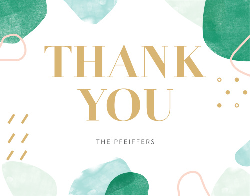 Make your appreciation into something tangible with our bright and shining Sea Breeze Collage Wedding Thank You Cards.