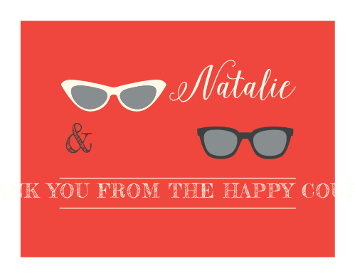 Show your appreciation with our cool and clean Beach Geek Wedding Thank You Cards.