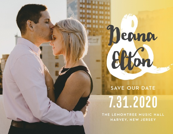 Ensure that your guests know about your wedding well in advance with our stunning Big Ampersand Save-the-Date Magnets.