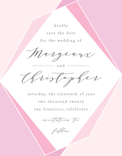 Use our stunning Playful Lines Save-the-Date Cards to share all of the most important details of your wedding with your guests well in advance.