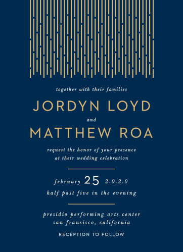 Gatsby Wedding Invitations Match Your Color Style Free