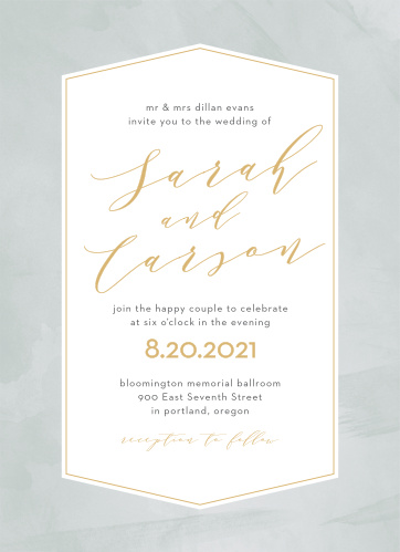 Enjoy the company of your friends and family when you use our Blushing Love Wedding Invitations to invite them.
