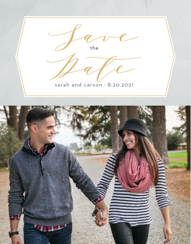 Our Blushing Love Save-the-Date Cards ensure that your loved ones mark their calendars well in advance of your special day.