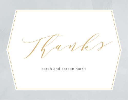 Our Blushing Love Thank You Cards utilize the same gorgeous design and color scheme as several other cards in the Blushing Love wedding suite.