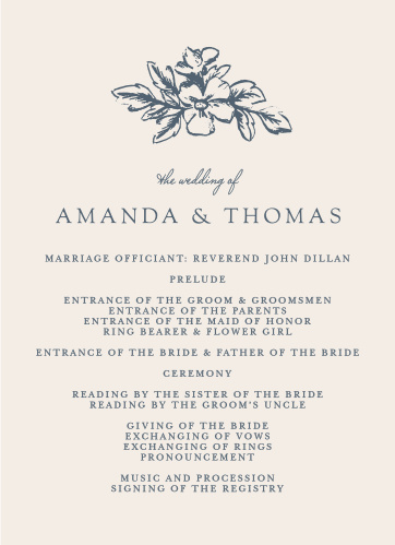 Walk your guests through each unique moment of your wedding day with our gorgeous Soft Morning Wedding Programs.
