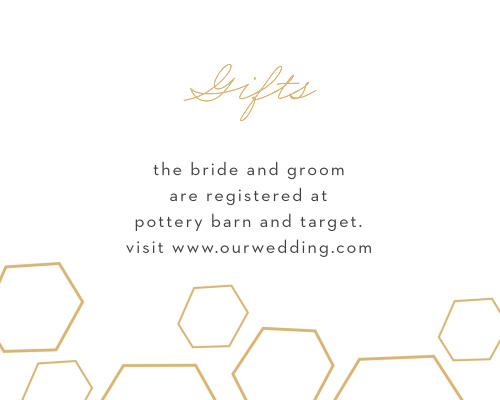 Our Geometric Watercolor Cards utilize the same gorgeous design and color scheme as several other cards in the Geometric Watercolor wedding suite.