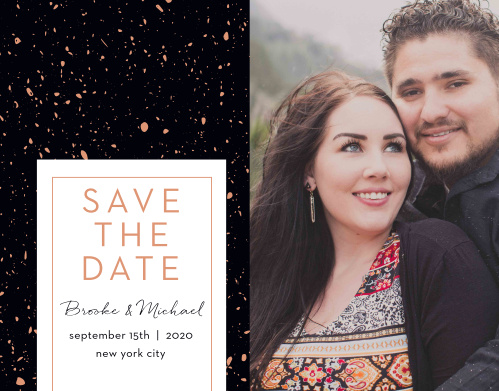 Guarantee that your guests mark their calendars well in advance with gorgeous Painted Book Save-the-Date Cards.