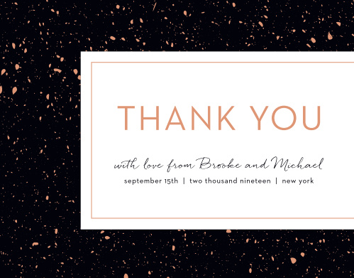Turn your gratitude into something beautiful and tangible with our Painted Book Wedding Thank You Cards.