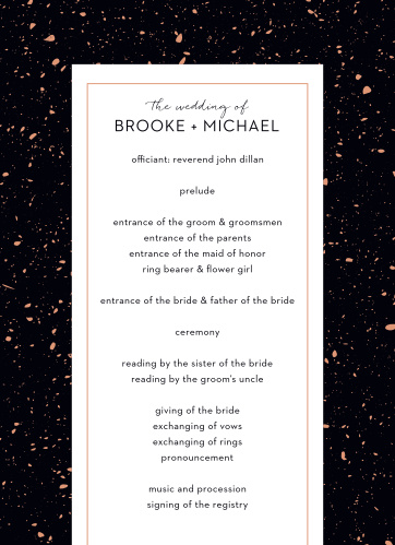 Detail each precious moment of your wedding ceremony for your guests with our Painted Book Wedding Programs.