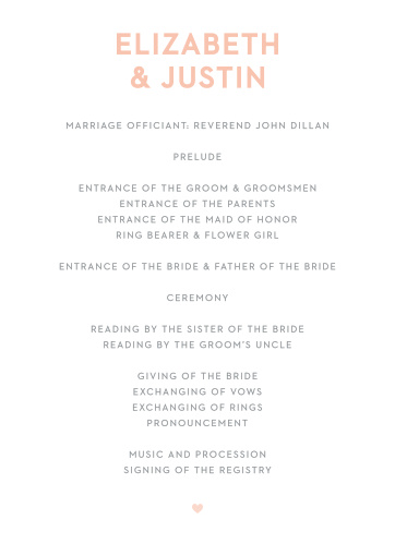 Our Wooden Love Wedding Programs are rustic and romantic.