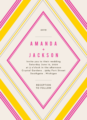 Our Diamond Reflections Wedding Invitations are vintage in both design and coloring.