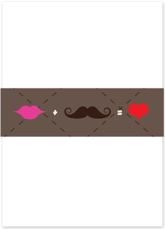 The Charming Mustache Belly Band is the perfect compliment to The Charming Mustache, or any other invitation set.