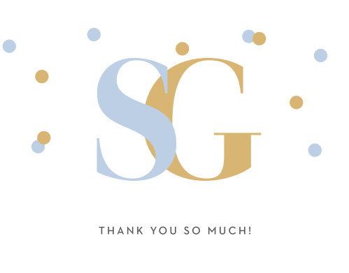 Turn your gratitude into something tangible with our simply stunning, and stunningly simple, Confetti Overlap Thank You Cards.