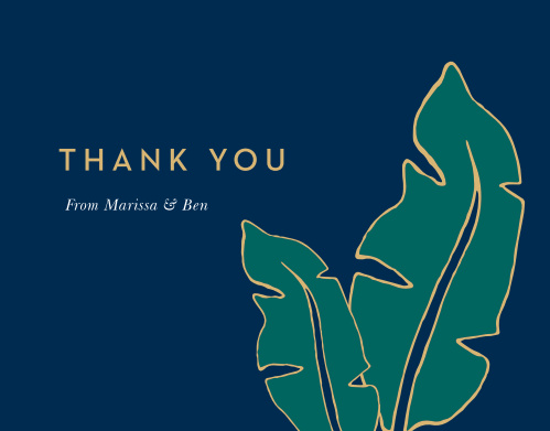 The Green Breeze Thank You Card is a design your guests will love to receive.