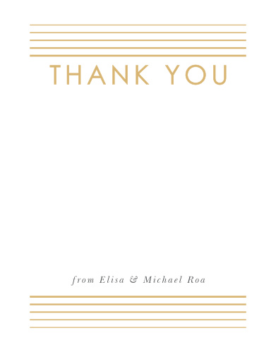Our Rippled Quintet Wedding Thank You Cards utilize the same gorgeous design and color scheme as several other cards in the Rippled Quintet wedding suite.